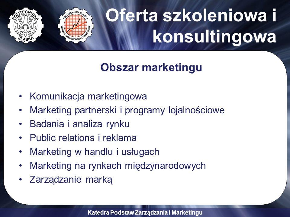 Oferta szkoleniowa i konsultingowa