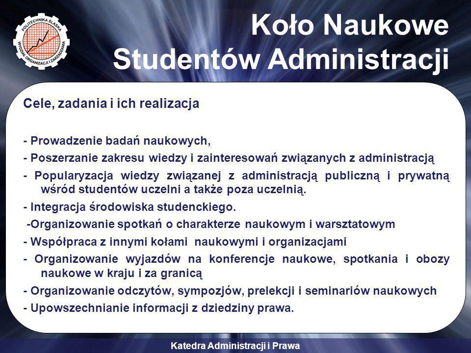 Koło Naukowe Studentów Administracji