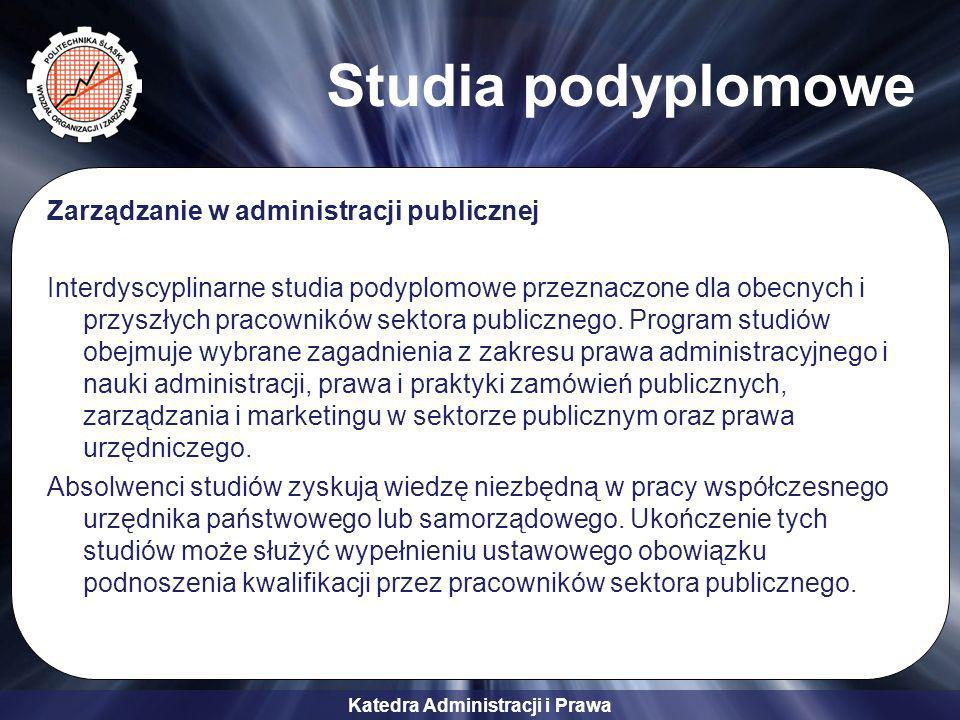 Studia podyplomowe Zarządzanie w administracji publicznej
