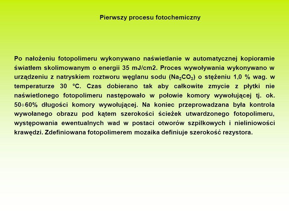 Pierwszy procesu fotochemiczny