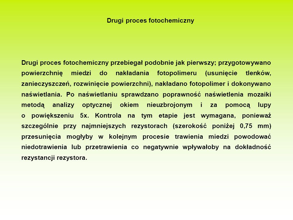 Drugi proces fotochemiczny