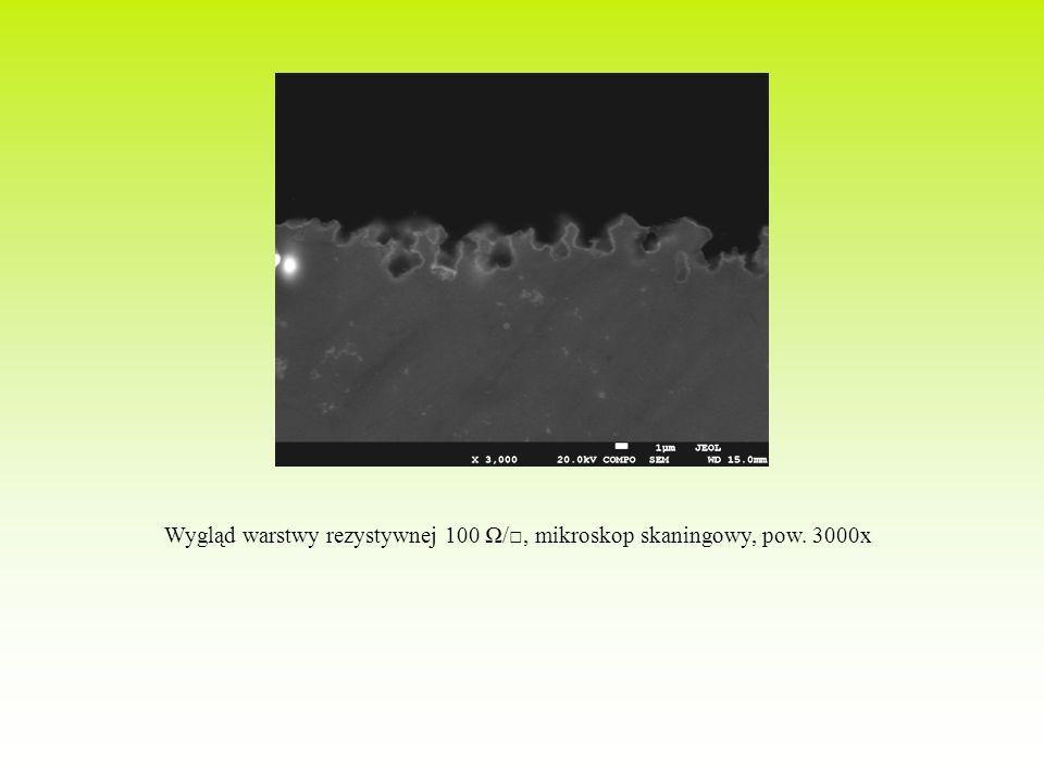 Wygląd warstwy rezystywnej 100 Ω/□, mikroskop skaningowy, pow. 3000x