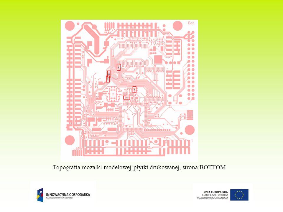 Topografia mozaiki modelowej płytki drukowanej, strona BOTTOM