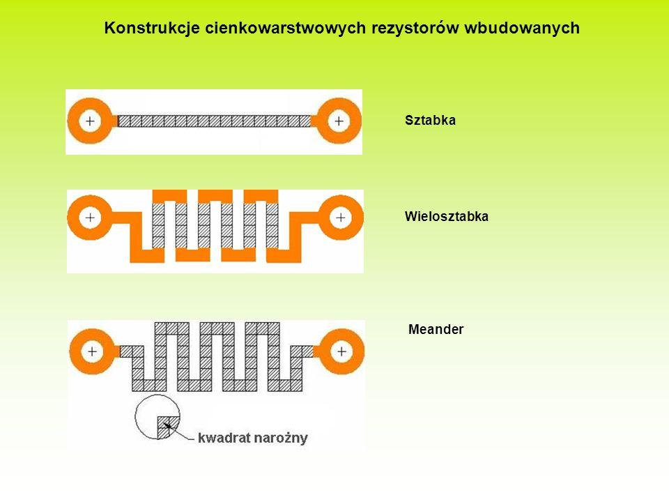 Konstrukcje cienkowarstwowych rezystorów wbudowanych