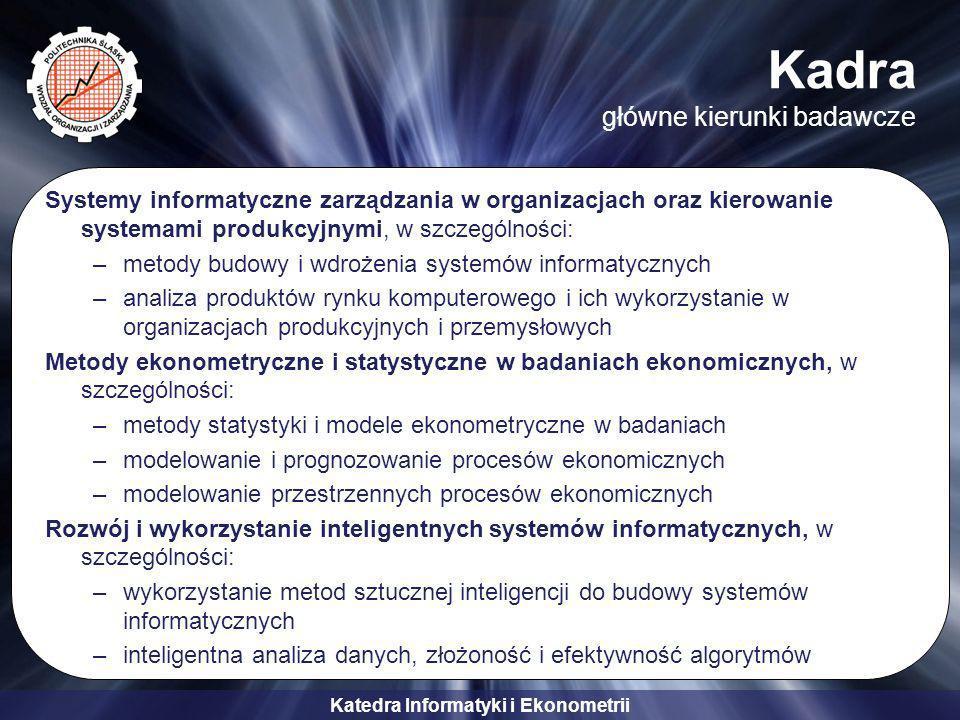 Kadra główne kierunki badawcze