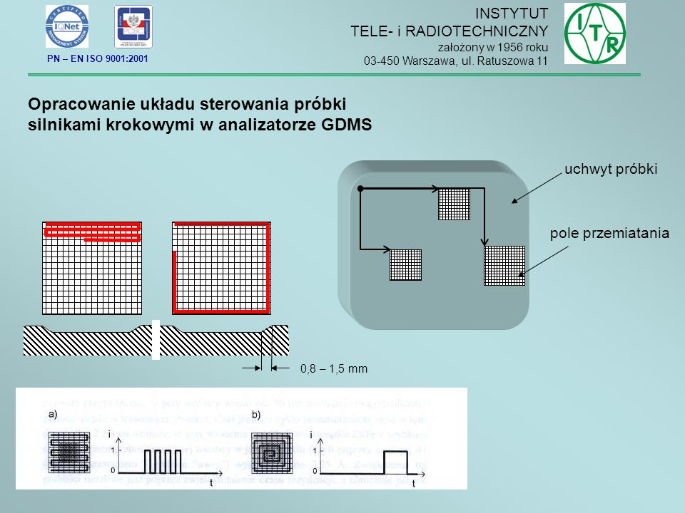 Opracowanie układu sterowania próbki