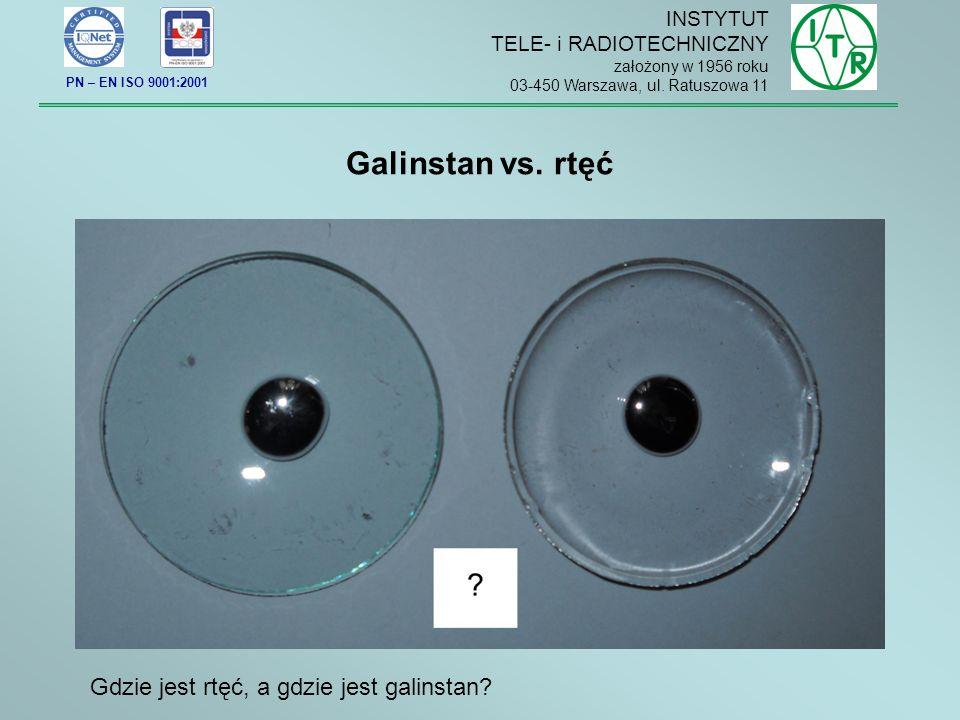 Galinstan vs. rtęć Gdzie jest rtęć, a gdzie jest galinstan INSTYTUT