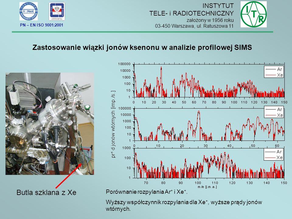 Zastosowanie wiązki jonów ksenonu w analizie profilowej SIMS