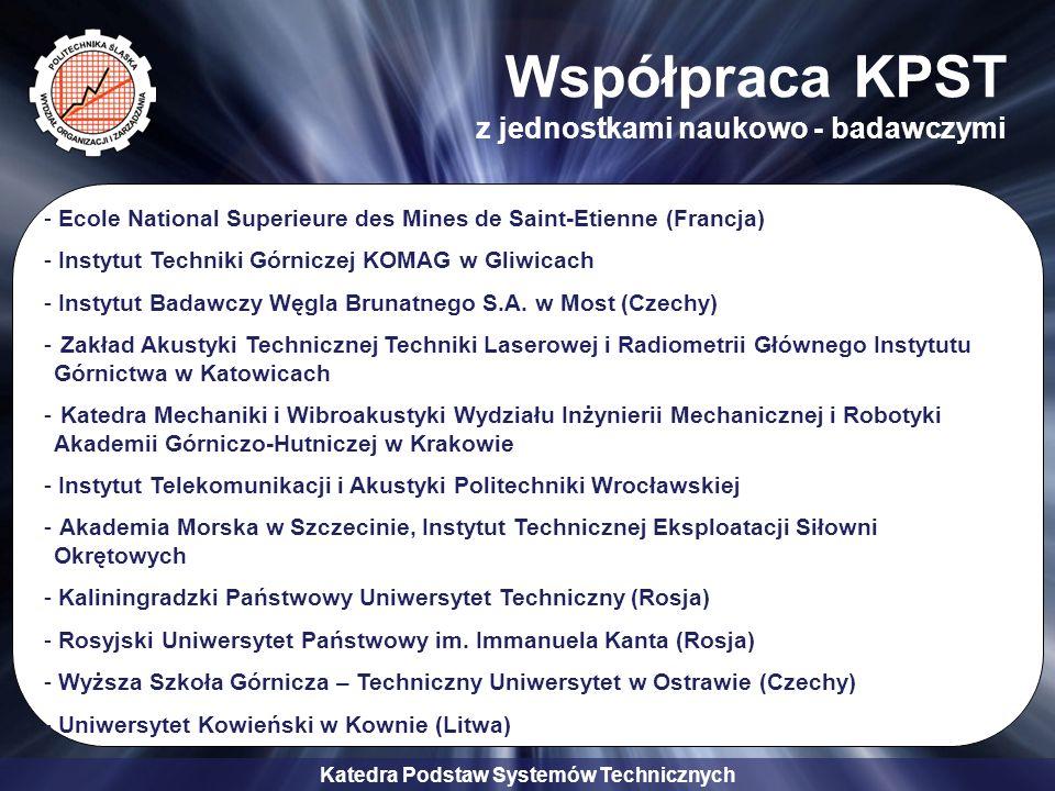 Współpraca KPST z jednostkami naukowo - badawczymi