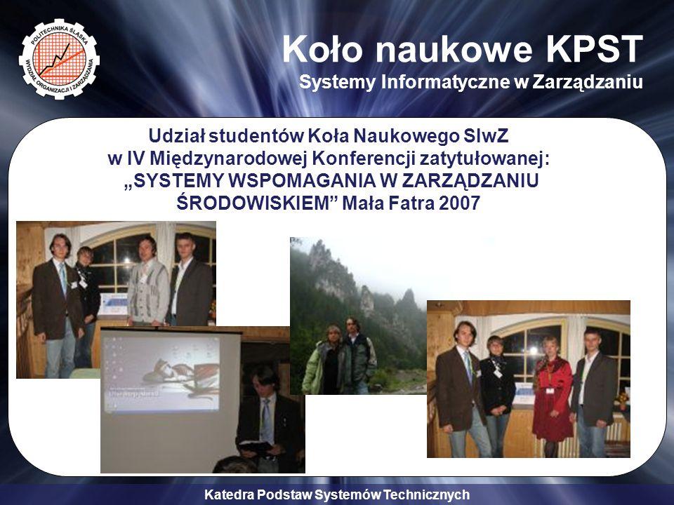 Koło naukowe KPST Systemy Informatyczne w Zarządzaniu