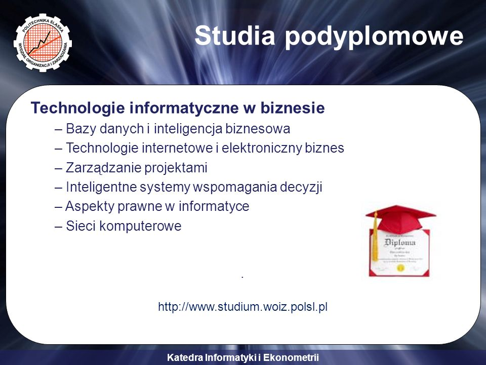 Studia podyplomowe Technologie informatyczne w biznesie