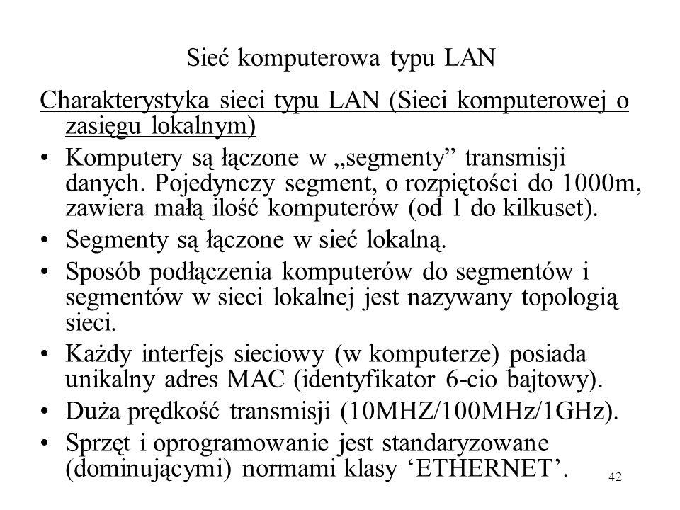Sieć komputerowa typu LAN