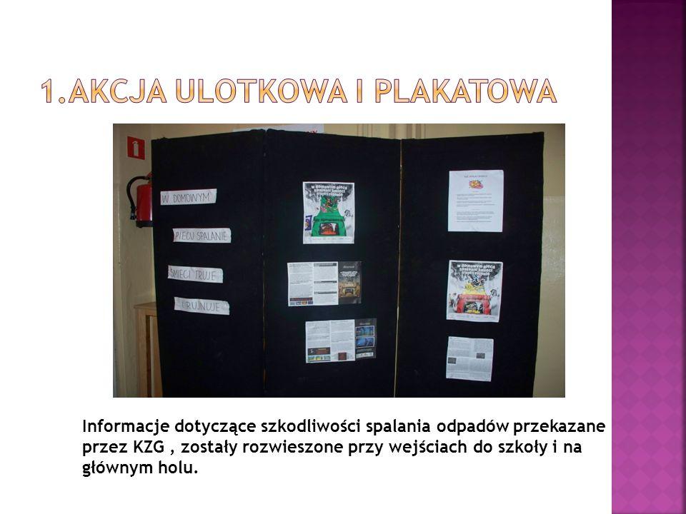 1.Akcja ulotkowa i plakatowa