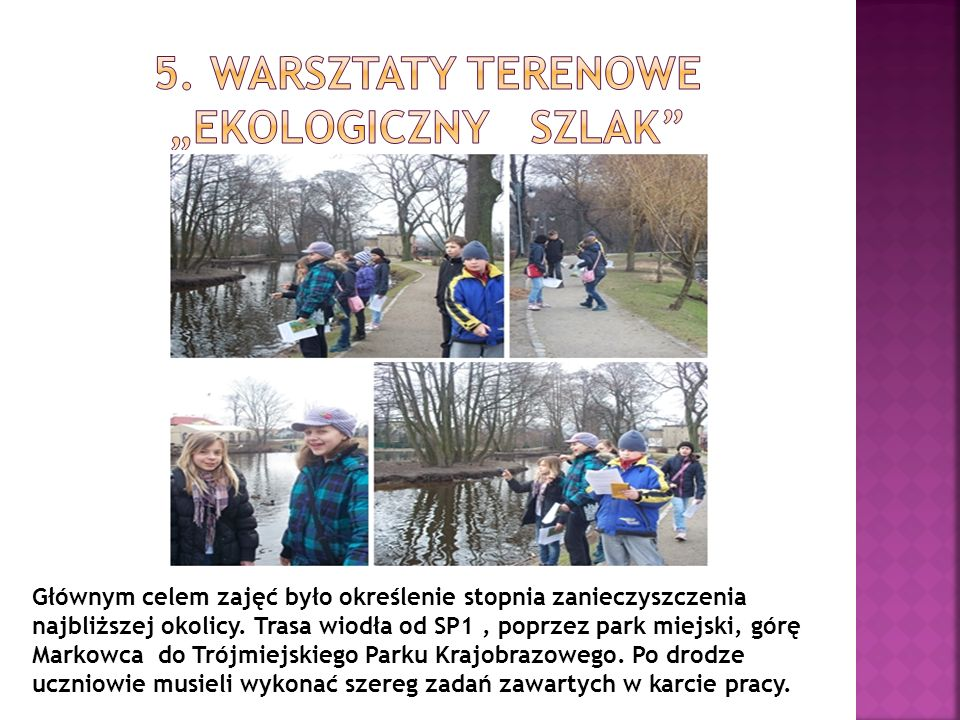 "5. Warsztaty terenowe ""Ekologiczny szlak"