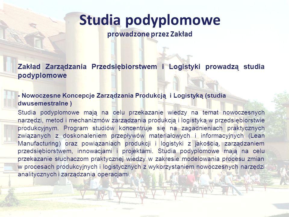 Studia podyplomowe prowadzone przez Zakład