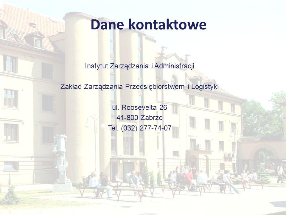 Dane kontaktowe Instytut Zarządzania i Administracji