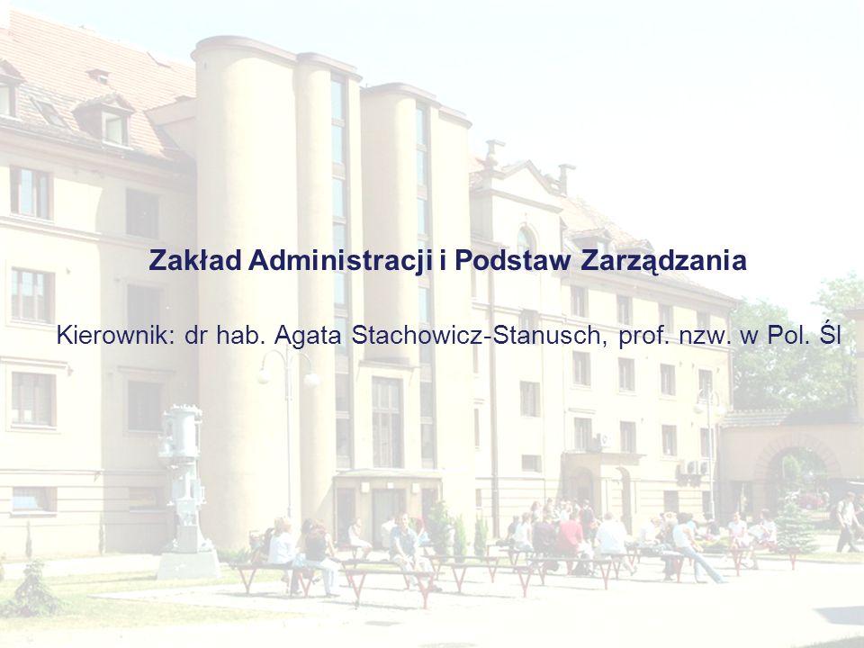 Zakład Administracji i Podstaw Zarządzania