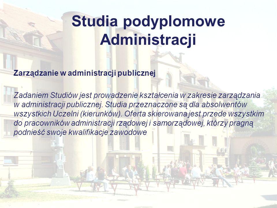 Studia podyplomowe Administracji