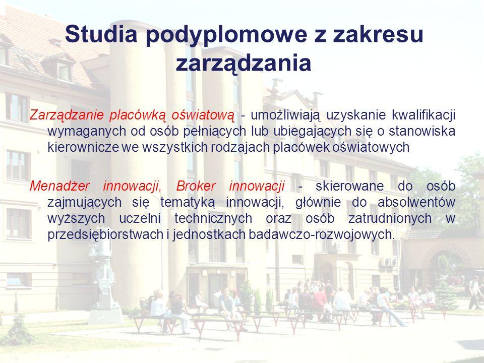 Studia podyplomowe z zakresu zarządzania
