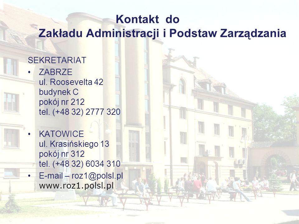 Kontakt do Zakładu Administracji i Podstaw Zarządzania