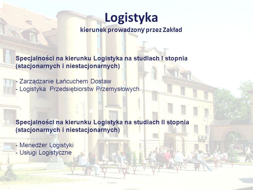 Logistyka kierunek prowadzony przez Zakład