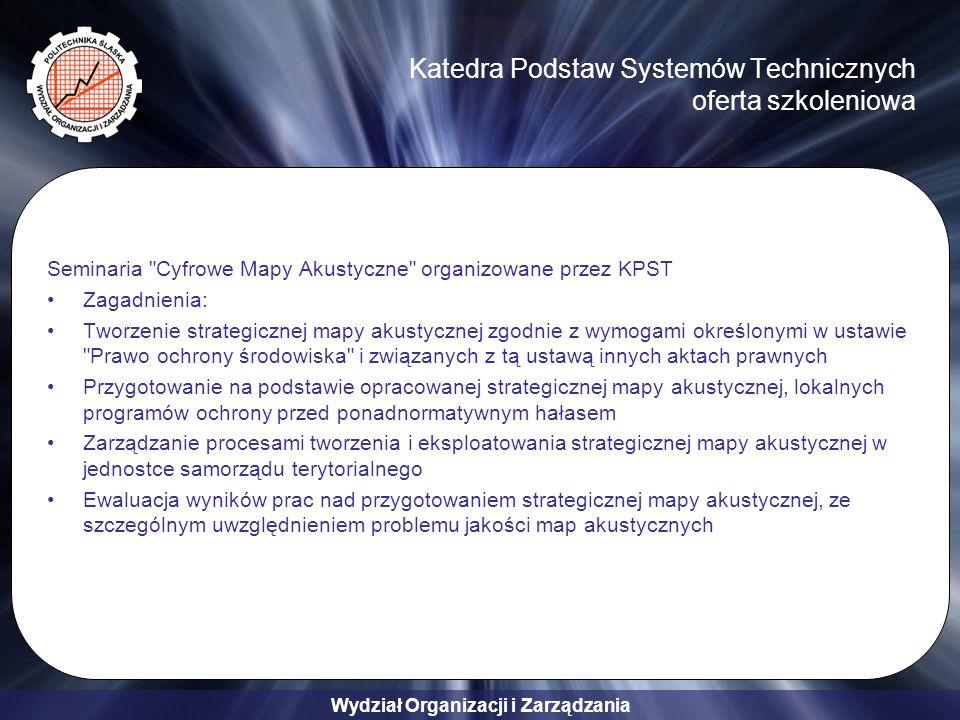 Katedra Podstaw Systemów Technicznych oferta szkoleniowa
