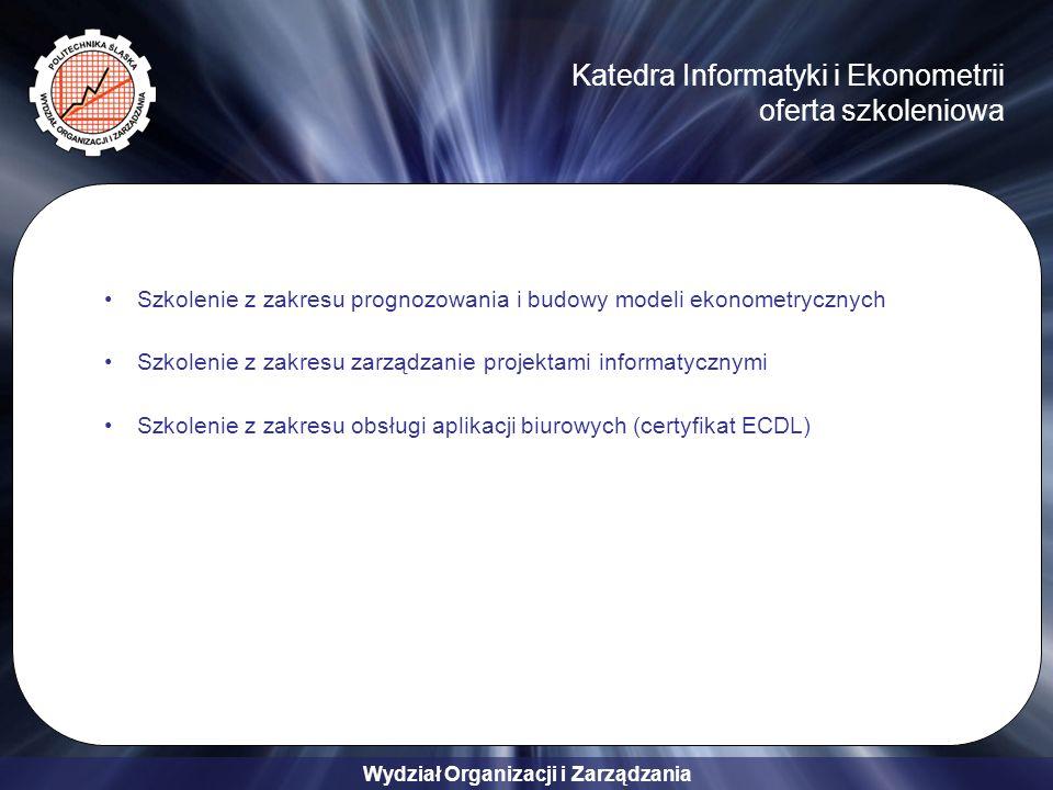 Katedra Informatyki i Ekonometrii oferta szkoleniowa