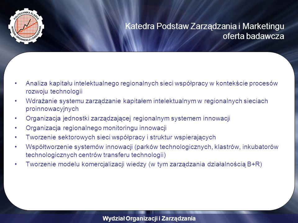Katedra Podstaw Zarządzania i Marketingu oferta badawcza