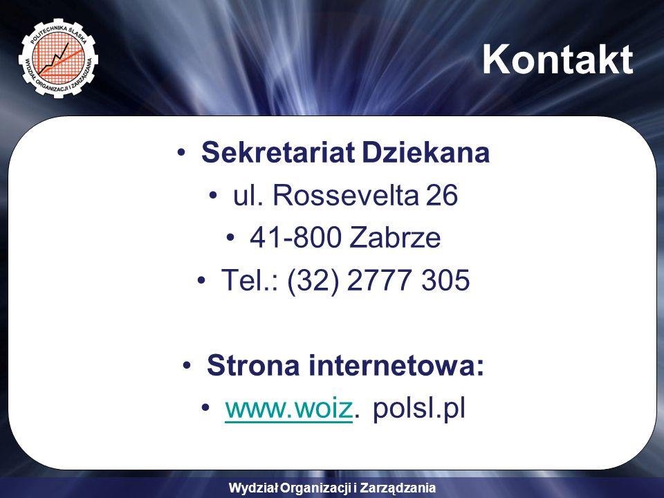 Kontakt Sekretariat Dziekana ul. Rossevelta 26 41-800 Zabrze