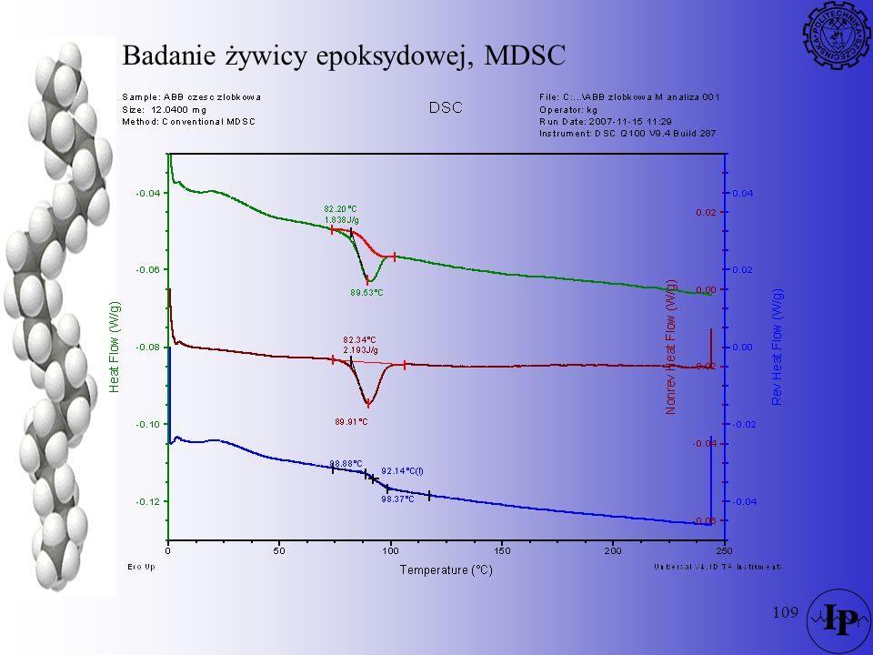 Badanie żywicy epoksydowej, MDSC
