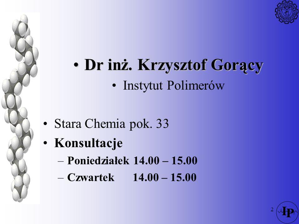 Dr inż. Krzysztof Gorący