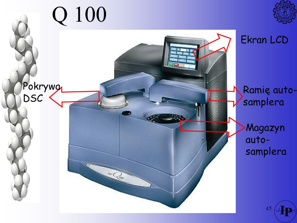 Q 100 Ekran LCD Pokrywa DSC Ramię auto- samplera