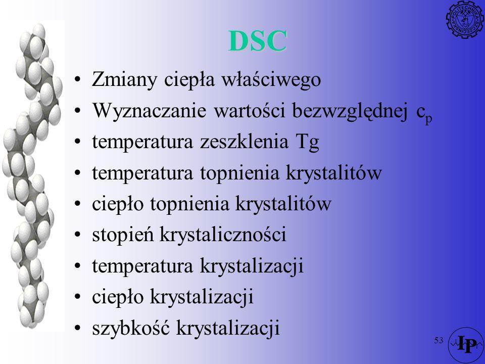 DSC Zmiany ciepła właściwego Wyznaczanie wartości bezwzględnej cp
