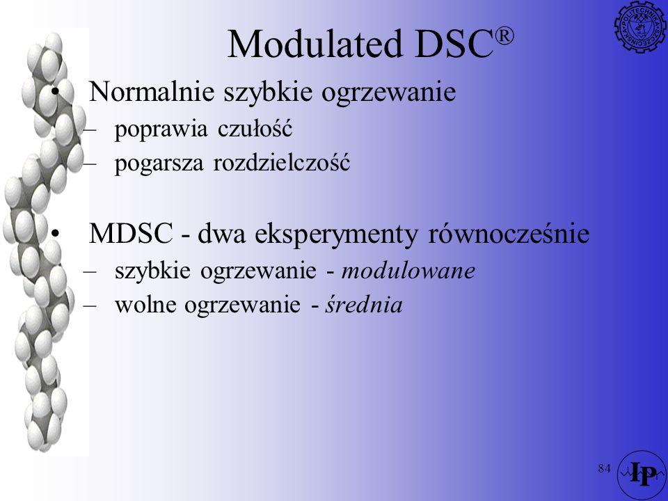 Modulated DSC® Normalnie szybkie ogrzewanie