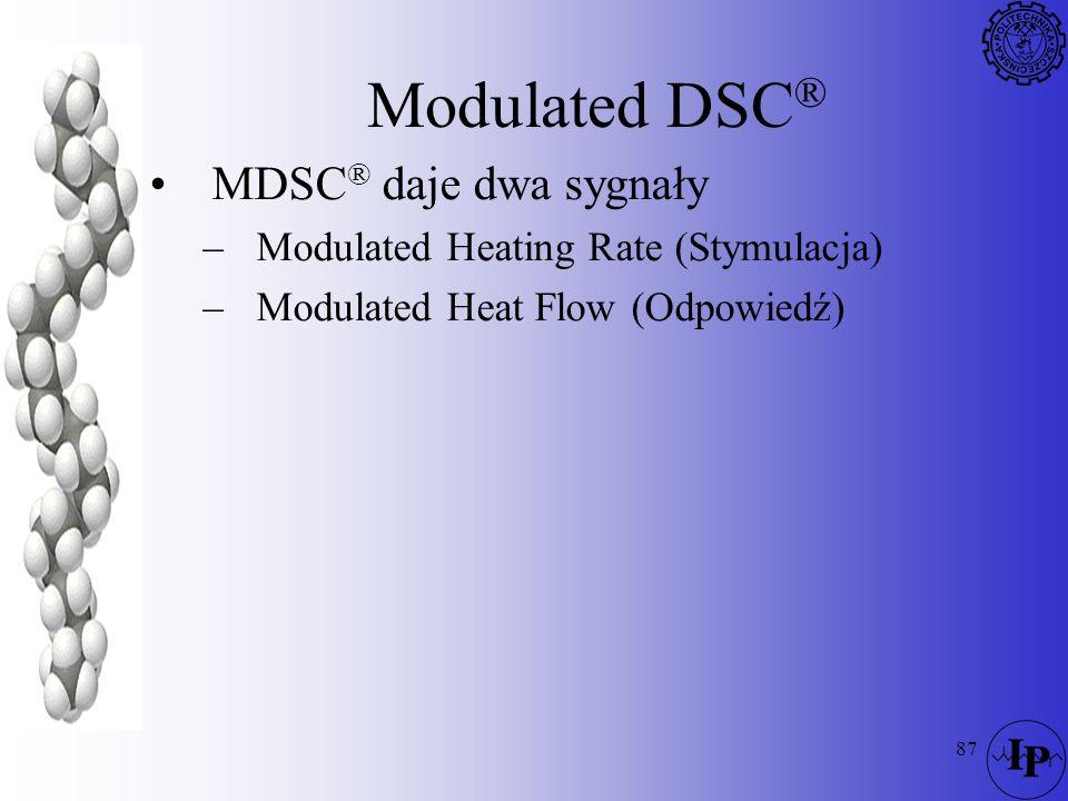 Modulated DSC® MDSC® daje dwa sygnały