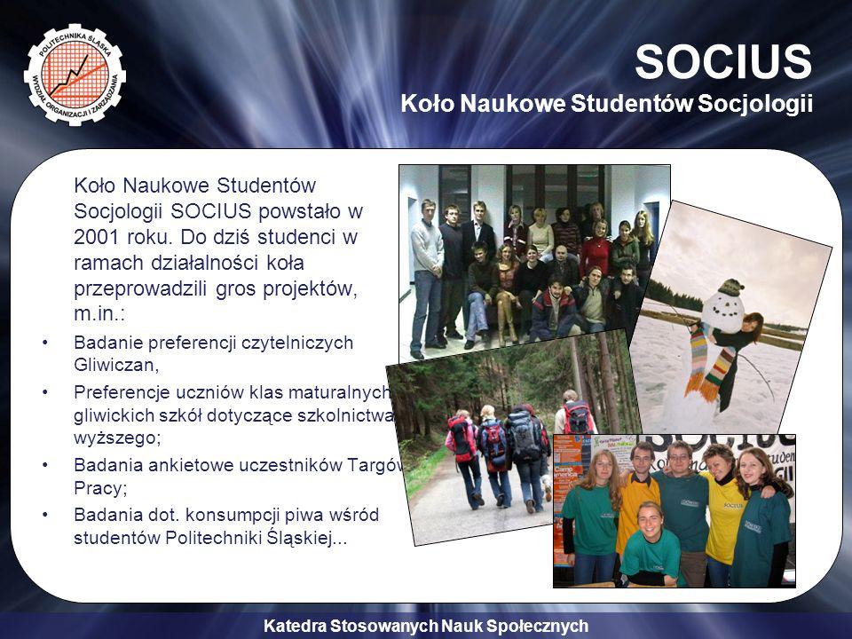 SOCIUS Koło Naukowe Studentów Socjologii