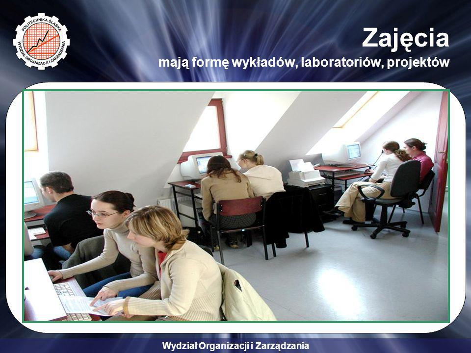 Zajęcia mają formę wykładów, laboratoriów, projektów