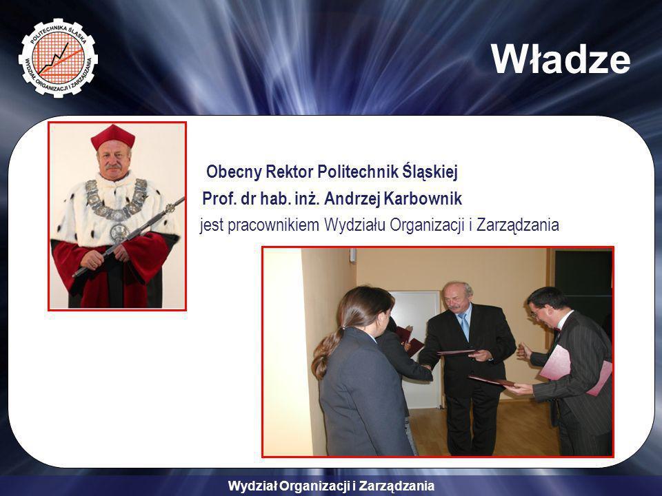 Władze Obecny Rektor Politechnik Śląskiej
