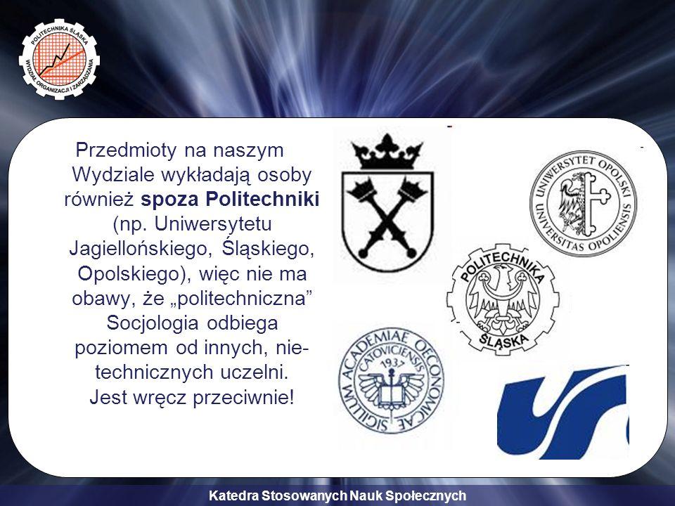 Przedmioty na naszym Wydziale wykładają osoby również spoza Politechniki (np.
