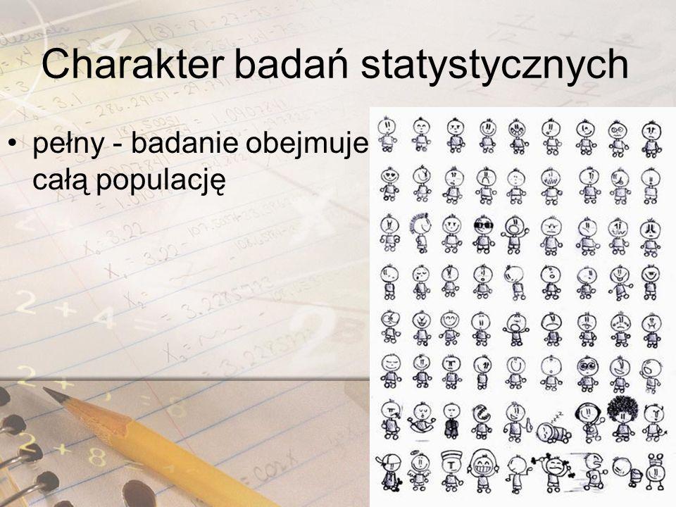 Charakter badań statystycznych