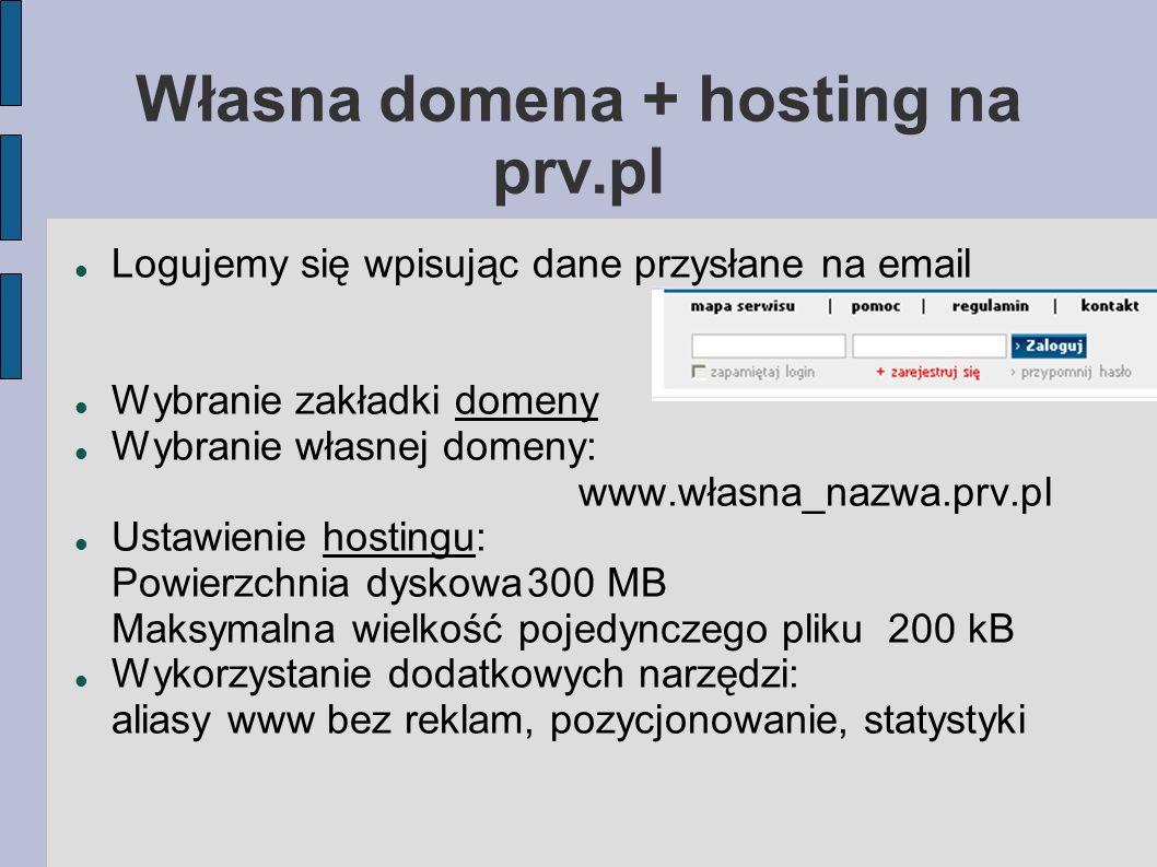 Własna domena + hosting na prv.pl
