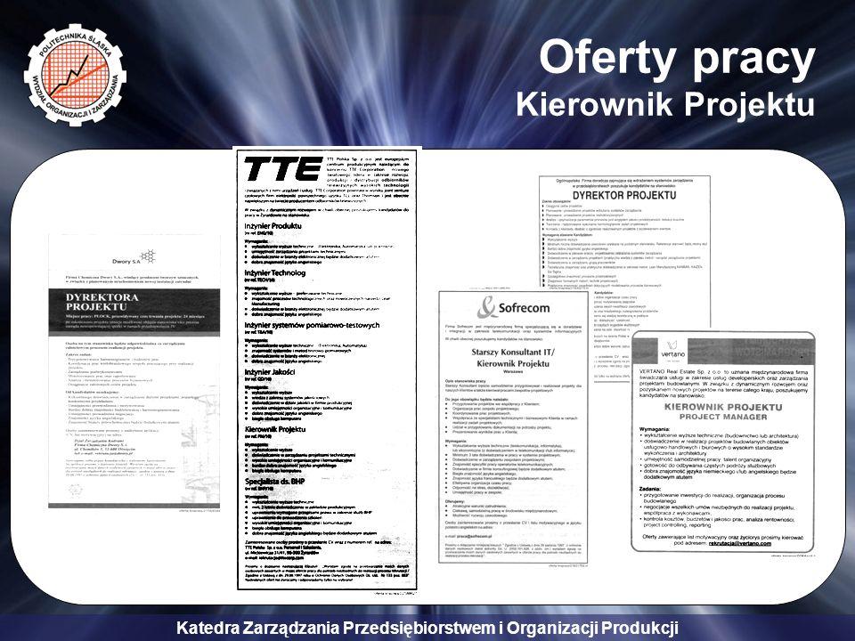Oferty pracy Kierownik Projektu