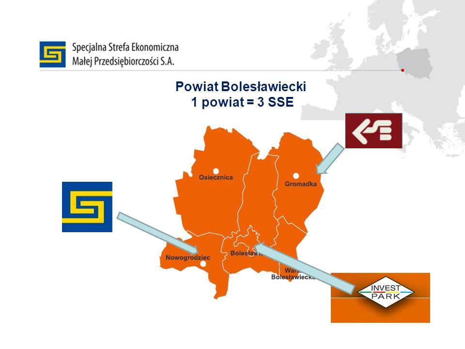 Powiat Bolesławiecki 1 powiat = 3 SSE