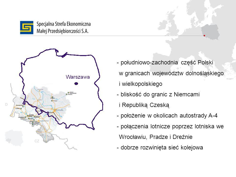południowo-zachodnia część Polski