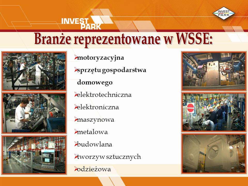 Branże reprezentowane w WSSE: