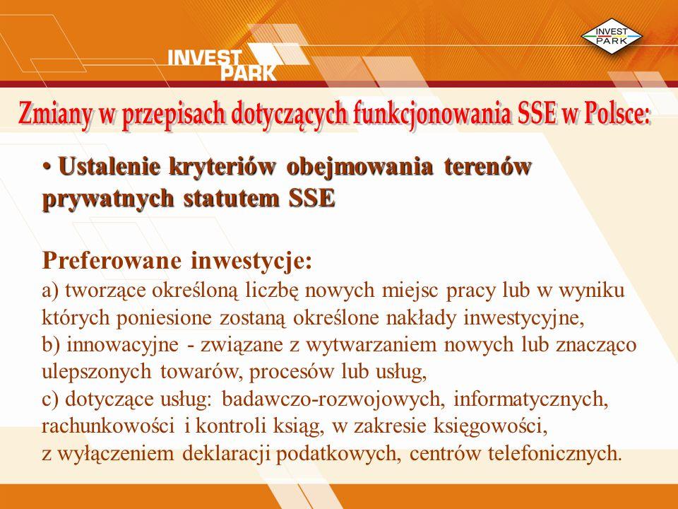 Zmiany w przepisach dotyczących funkcjonowania SSE w Polsce: