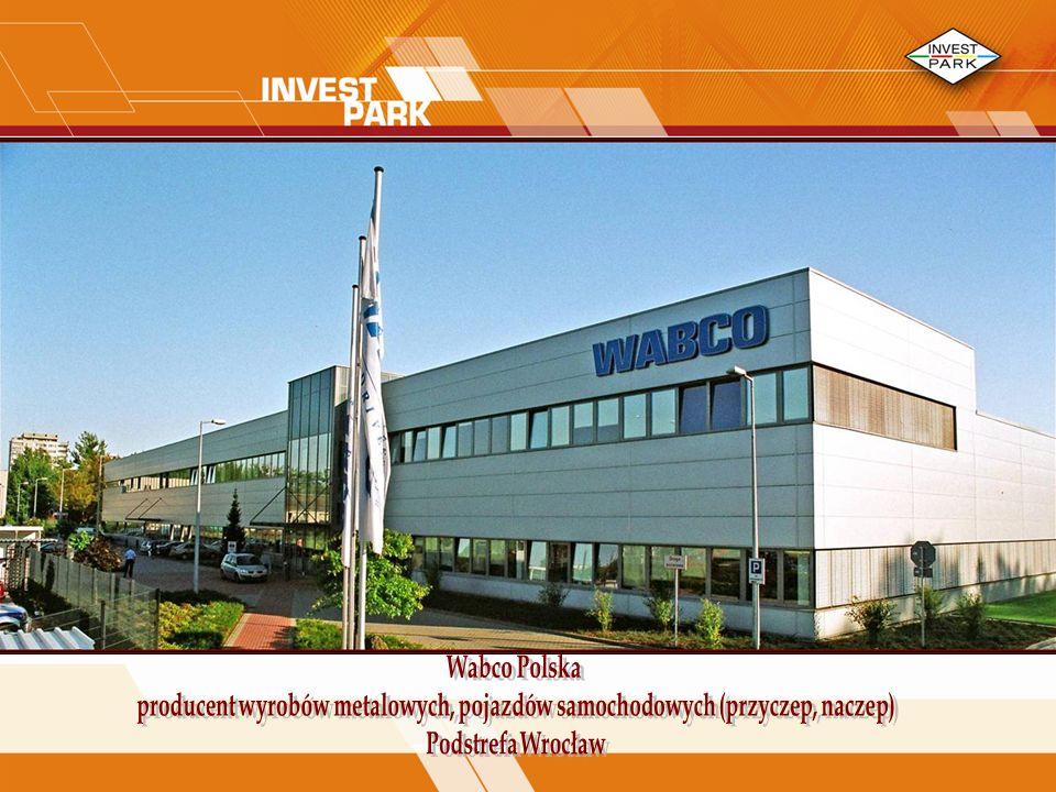 Wabco Polska producent wyrobów metalowych, pojazdów samochodowych (przyczep, naczep) Podstrefa Wrocław.