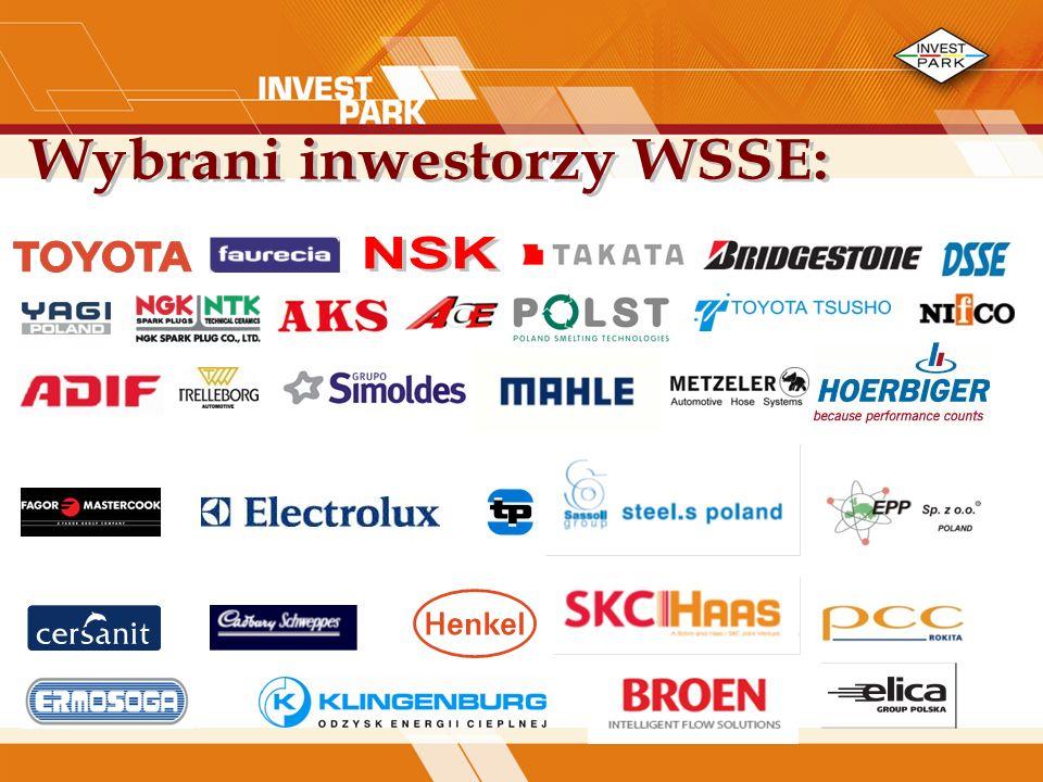 Wybrani inwestorzy WSSE: