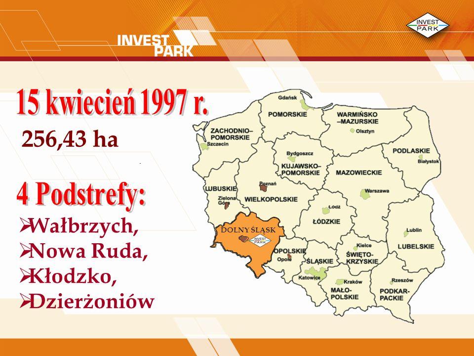 256,43 ha Wałbrzych, Nowa Ruda, Kłodzko, Dzierżoniów