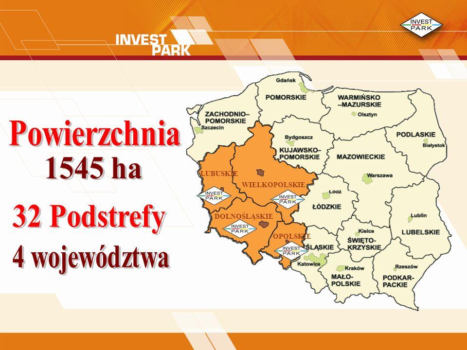 32 Podstrefy 4 województwa